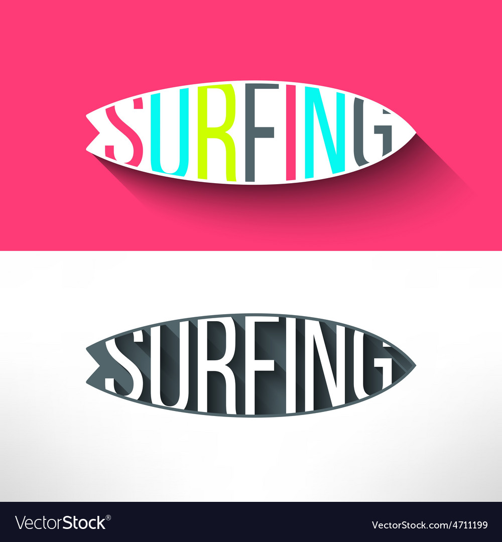Surf typography inside surging board t vector | Price: 1 Credit (USD $1)