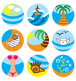 Logo icons beach vector