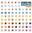 Huge set of business symbols - geometric shapes vector