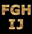 Gold letters set f-j vector