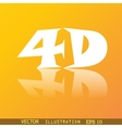 4d icon symbol flat modern web design with vector