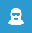 Offender icon white on the blue background vector
