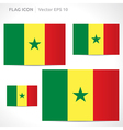 Senegal flag template vector