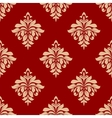 Seamless beige floral pattern vector