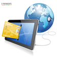 Electronic payment concept vector