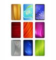 Set abstract colored drapery background vector