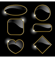 Set from gold frames vector