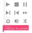 Media player icon set vector