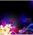 Abstract background celebration with flowers vector