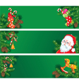 Set of christmas and new year horizontal banners vector