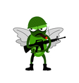 Fly of soldiers vector