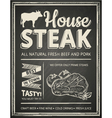 Steak house poster vector