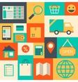 Design elements for online supermarket vector