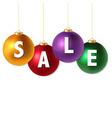 Sale christmas balls vector