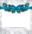 Greeting elegant invitation with christmas vector