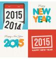 Happy new year card set vector