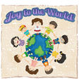 A joy to the world template vector