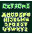 English alphabet in graffiti style vector