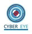Creative cyber eye logo vector