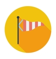 Meteorological tower icon vector