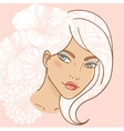 Attractive smiling young woman vector