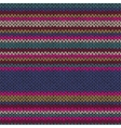 Seamless ethnic color striped knitted pattern vector