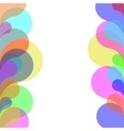 Abstract colorful background with bubbles vector