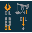 Fall in oil prices set design template vector