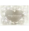 Silver sparkling christmas heart vector
