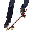 Evolutions on board skateboard vector