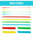 Watercolor brush strokes vector