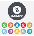 Rabatt - discounts in german sign icon star vector