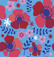 Seamless pattern with red poppies vector