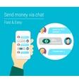 Transferring money via chat vector
