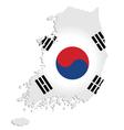 South korea map vector