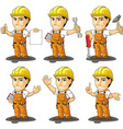 Industrial construction worker mascot 2 vector