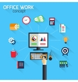 Office work concept vector
