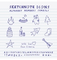 Doodle russian icons vector