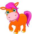 Cute little pony vector
