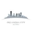 Oklahoma city skyline silhouette vector