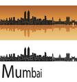 Mumbai skyline vector