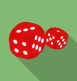Dice icon modern flat style with a long shadow vector