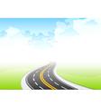 Road sky vector
