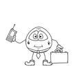 Emoticon businessman sketch vector