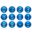 Liquid crystal digits icons vector