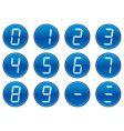 Liquid crystal digits icons vector