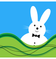 White bunny with bow tie vector