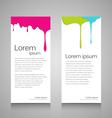 Roll up colorful dropping design vector