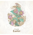 Easter background with delicate egg from flowers vector