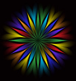 Abstract glowing vector